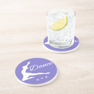 DANCE custom monogram & color coaster