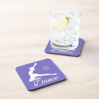DANCE custom monogram & color coasters