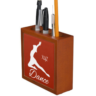 DANCE custom monogram & color desk organizer
