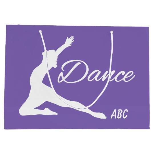 DANCE custom monogram & color gift bags