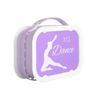 DANCE custom monogram & color lunch box