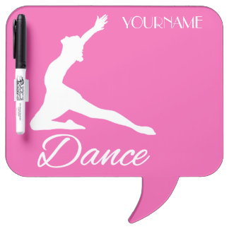 DANCE custom monogram & color message boards Dry-Erase Boards