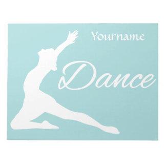 DANCE custom monogram & color notepad