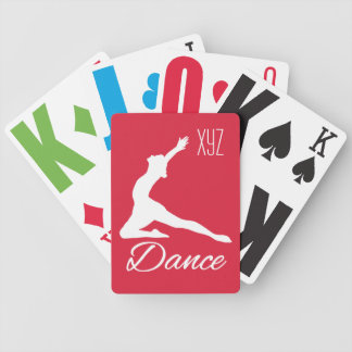 DANCE custom monogram & color playing cards