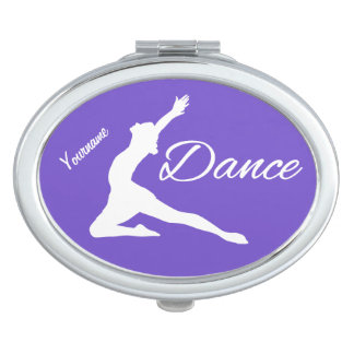 DANCE custom monogram & color pocket mirror Travel Mirrors