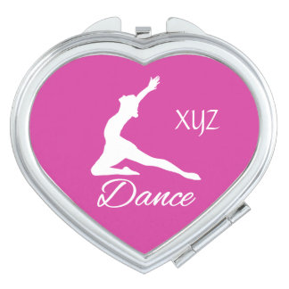DANCE custom monogram & color pocket mirror Vanity Mirrors