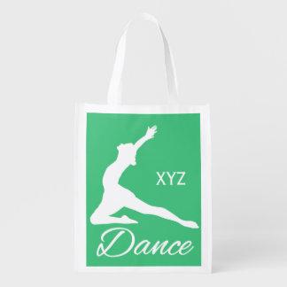 DANCE custom monogram & color reusable bag