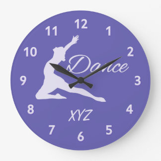 DANCE custom monogram wall clocks