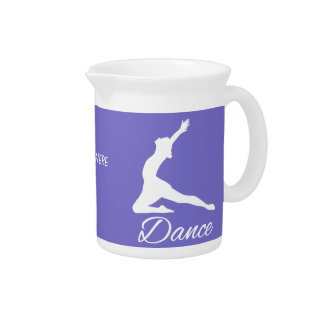 DANCE custom text & color pitcher