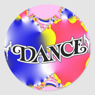 Dance , Dance, Dance! Classic Round Sticker
