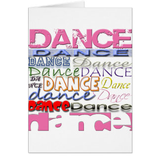 Dance Dancer's Products Greeting Cards