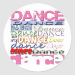 Dance Dancer's Products Round Stickers