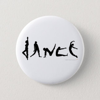 Dance Dancing Silhouette Design 6 Cm Round Badge