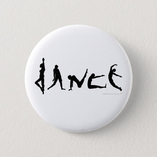 Dance Dancing Silhouette Design 6 Cm Round Badge