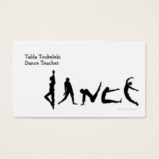 Dance Dancing Silhouette Design Business Card