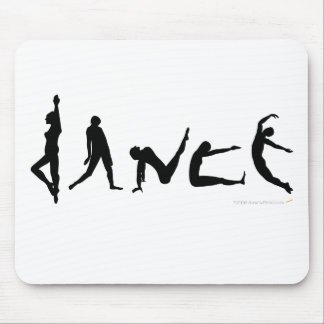 Dance Dancing Silhouette Design Mouse Pad