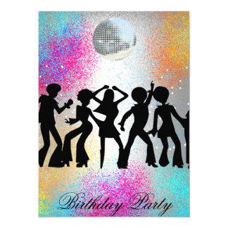 Dance Disco Colorful Birthday Party Invitation
