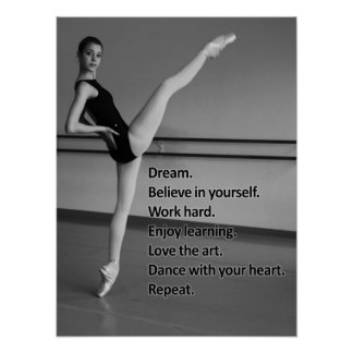 Dance Dream Gift for Dancers Poster