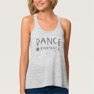 DANCE EVERYDAY Boho Quote *Gold* Tank Top