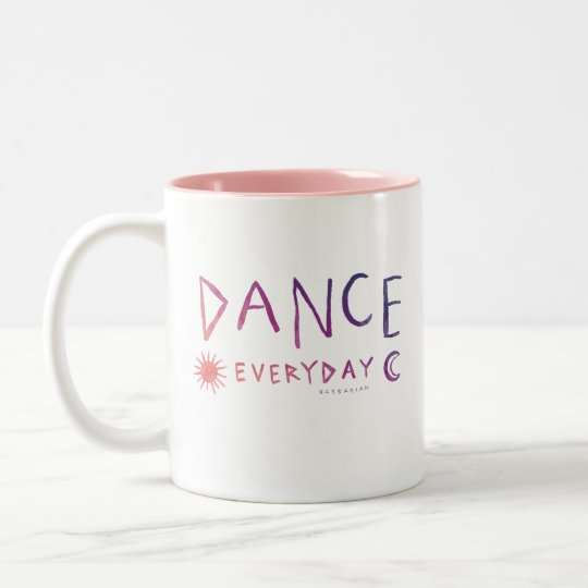 DANCE EVERYDAY Quote Ballet *Sunset Ombre* Two-Tone Coffee