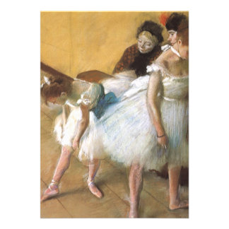 Dance Examination by Edgar Degas Vintage Ballet Personalized Announcements