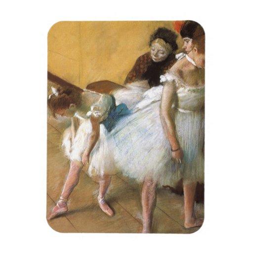 Dance Examination by Edgar Degas, Vintage Ballet Vinyl Magnets