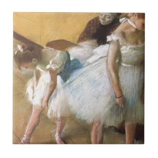 Dance Examination by Edgar Degas, Vintage Ballet Small Square Tile