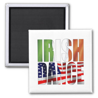 Dance Flags Square Magnet