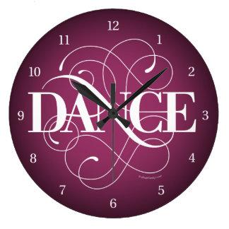 Dance Flourish Large Clock