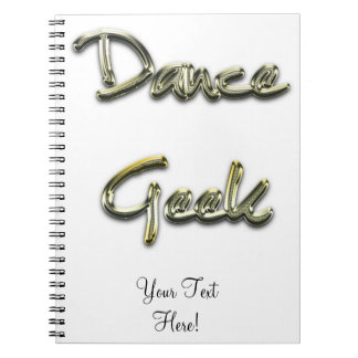 Dance Geek Gold Notebook