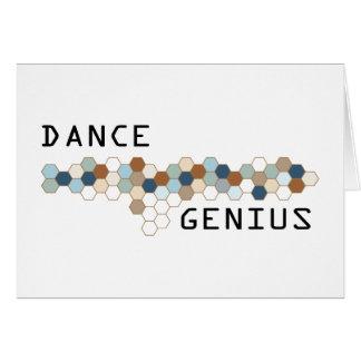 Dance Genius Greeting Card