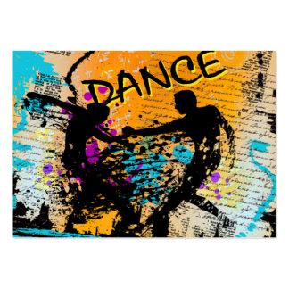 Dance Grunge - Choreographer Dancer Instructor Business Card Template