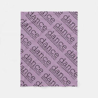 Dance Hashtags Fleece Blanket