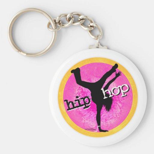 Dance - Hip Hop pink girl keychain
