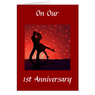 DANCE/HOLD U IN ARMS 1st ANNIVERSARY Greeting Card