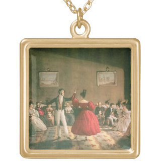Dance in a Salon in Buenos Aires, c.1831 (w/c on p Gold Plated Necklace