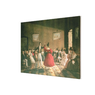 Dance in a Salon in Buenos Aires, c.1831 (w/c on p Stretched Canvas Print