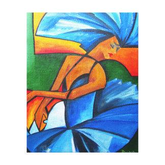 Dance in blue 2008 canvas print