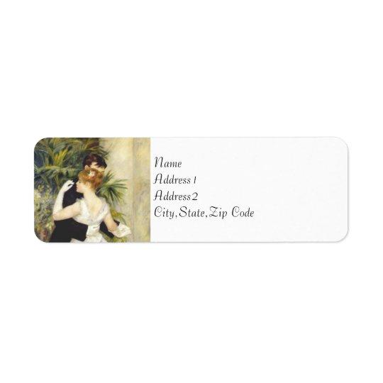 Dance in the City by Renoir Return Address Label