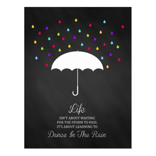 Dance in the Rain Inspirational Postcard