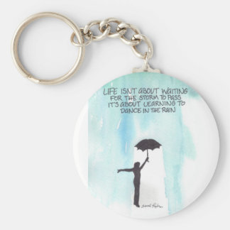 Dance In The Rain Basic Round Button Key Ring