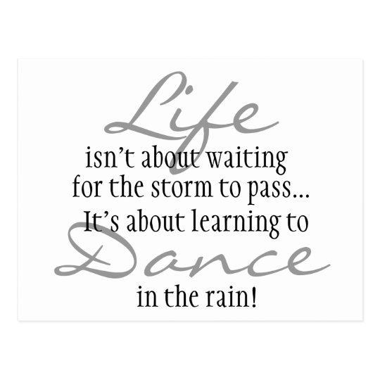 Dance in the Rain Magnet Postcard