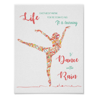 Dance in the rain Poster