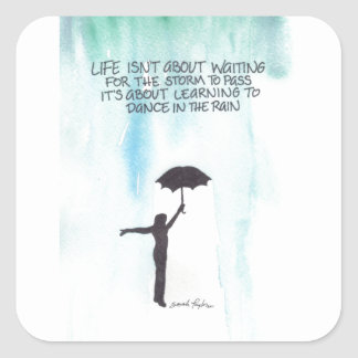 Dance In The Rain Square Sticker