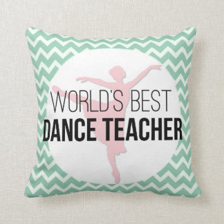 Dance Instructor Chevron Personalized Thank You Cushion