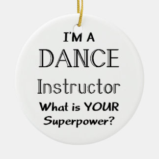 Dance instructor christmas ornament