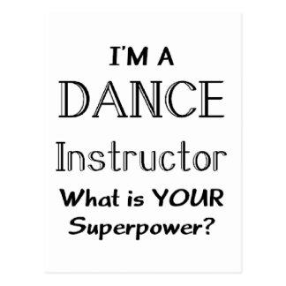 Dance instructor postcard