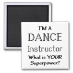 Dance instructor square magnet