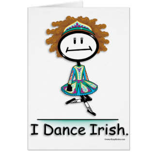 Dance Irish Greeting Card