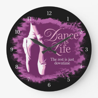 Dance Is Life Large Clock
